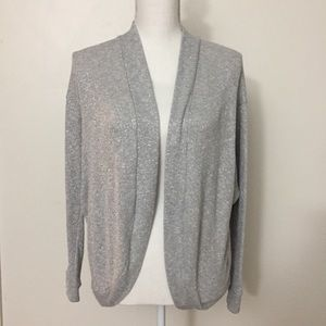 🔴 F21 | Sparkly, Gray Cardigan | Size Small